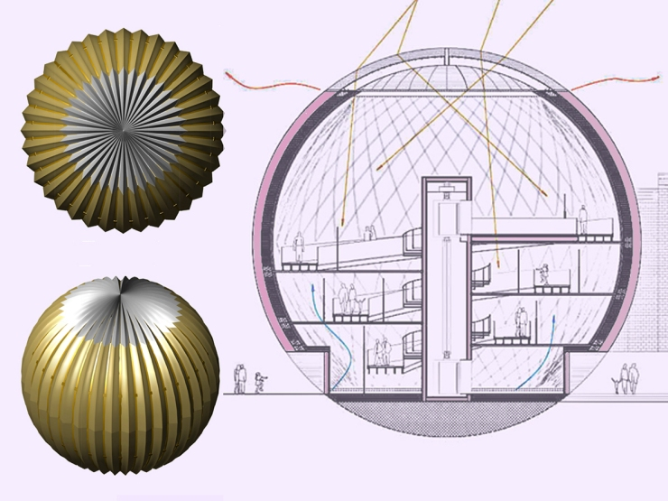 spherical art gallery